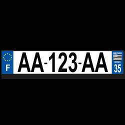 Plaque aluminium 1 ligne