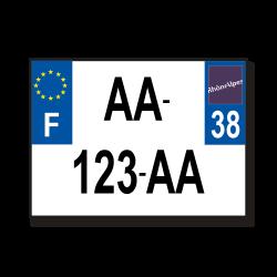 Plaque aluminium 2 ligne